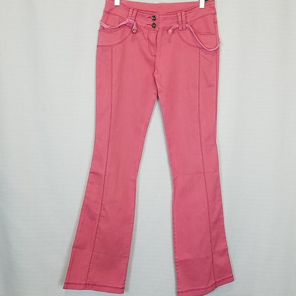 The Beatles Denim - The Beatles | Pink Flare Stretch Jeans 28